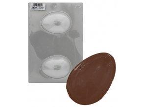 16436 forma na vejce hladke 2 tvary forma