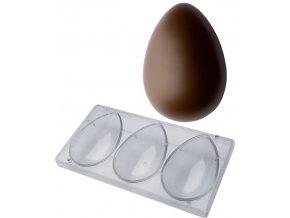 16460 forma na vejce 160g hladke 3 tvary forma