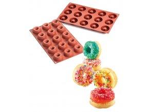 9788 forma silikonova 15ks donuts male prum 4 5 1 5cm v 1 8cm