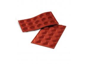 9794 forma silikonova 15ks flan mould disky prum 4cm v 1 3cm