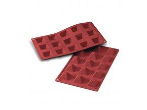 9821 forma silikonova 15ks pyramidy 3 6x3 6cm v 2 2cm