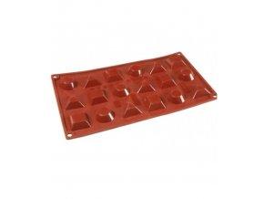 9851 forma silikonova 18ks tartaletka mix 4x3 6 v 1 2cm