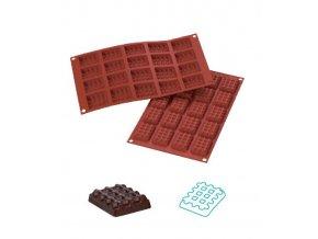 9866 forma silikonova 20ks mini vafle obdelnik 4 5x3 5 v 1cm