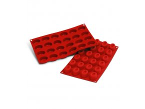 9932 forma silikonova 24ks ovalek maly prum 4 4x3 2 v 2 45cm