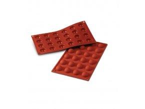 9941 forma silikonova 24ks polokoule prum 3cm v 1 5cm