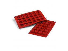 9953 forma silikonova 24ks srdce male prum 3 4x3 3 v 2 1cm