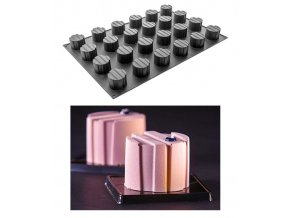 9962 forma silikonova 24ks valec s pruhy prum 6 v 4 5cm 115ml