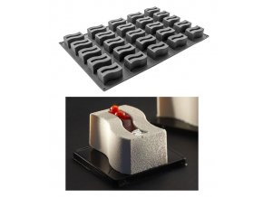 9974 forma silikonova 25ks vlnka 8x4 5 v 4cm 130ml