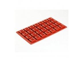 9980 forma silikonova 28ks savarin ctverec 3x3 v 1 4cm