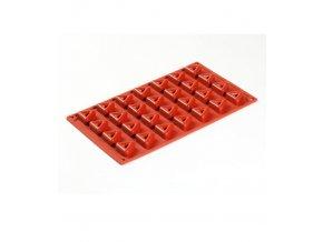 9989 forma silikonova 28ks savarin trojuhelnik 3x3 v 1 4cm
