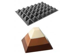 10010 forma silikonova 35ks pyramida 7x7 v 4 5cm 80ml