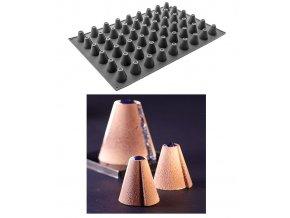 10052 forma silikonova 54ks mini kuzel prum 4 v 4 3cm 30ml