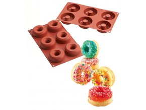 10091 forma silikonova 6ks donuts velke prum 7 5 2 5cm v 2 8cm