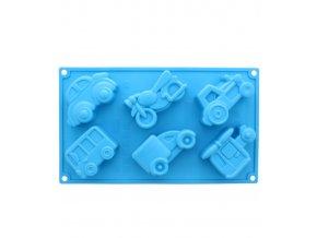 10094 forma silikonova 6ks dopravni prostredky v 3 6cm cca 100 ml