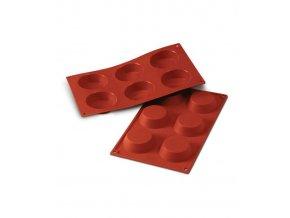 10136 forma silikonova 6ks tartaletka prum 7cm v 2cm