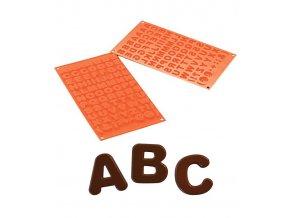 10163 forma silikonova 82ks abeceda 2 2x2 v 0 6cm