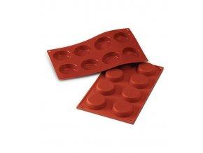 10175 forma silikonova 8ks flan mould disky prum 6cm v 1 7cm