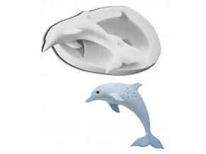 10313 forma silikonova 3d delfin 7 8x5cm