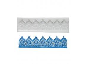 10334 forma silikonova 3d krajka pletena 17 6x4 4cm