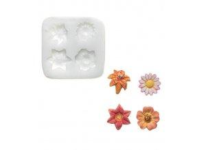10364 forma silikonova 3d kvety 2 3x2 3cm