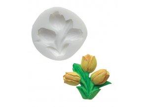 10484 forma silikonova 3d tulipany 4 9x6cm
