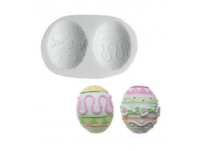 10493 forma silikonova 3d velikonocni vejce 5 3x4 3cm