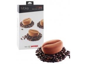 10688 forma silikonova design moka kavove zrno 12x100ml