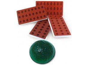 10952 forma silikonova na zelatinu polokoule 3x8 tvaru forma