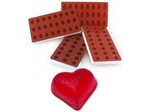 10955 forma silikonova na zelatinu srdce 3x8 tvaru forma