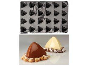 11018 forma silikonova trilo 24ks pyramida 7 5x7 2 v 5 8cm 96ml