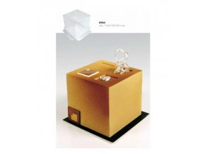 9182 forma za studena hi cake jednorazova krychle 11x11 v 10cm