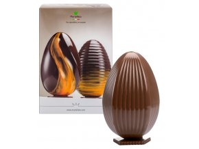 16589 formy na 2 vejce s podstavcem po 300g svisle vroubky 5 ks sada