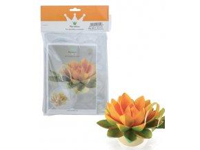 16637 formy na cokoladu 1polokoule 4ks lotosovy kvet 6 tvaru 4 formy 1 tvar forma