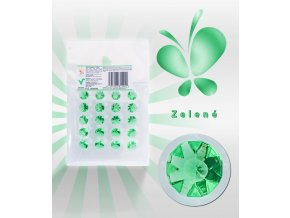 3443 jedle diamanty z zele zelene 20 ks plato