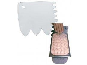 7676 karta plastova hruby jemny zoubek 14 5x15cm