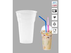 7283 kelimek milk shake 500ml pruhledny 50 ks bal