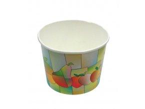 7361 kelimek papirovy na zmrzlinu 480ml barevne ovoce 100 ks bal