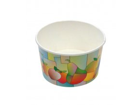 7364 kelimek papirovy na zmrzlinu 70 ml barevne ovoce 250 ks bal
