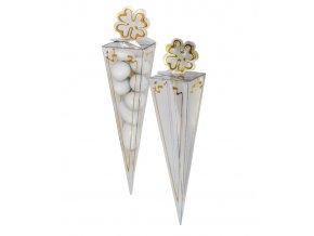 5804 kornout plast na svatebni mandle v 155 mm zlaty ctyrlistek 1 ks krabicka