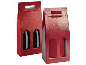 5810 krabice darkova na 2 lahve 180x90 v 385mm kuze bordeuax 1 ks krabice
