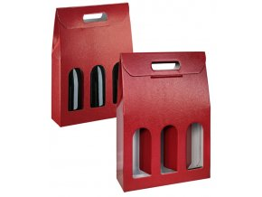 5816 krabice darkova na 3 lahve 270x90 v 385mm kuze bordeuax 1 ks krabice