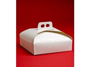 5846 krabice dortova 27cm bila damasek 25 ks bal