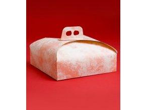5849 krabice dortova 27cm ruzovy dekor 25 ks bal