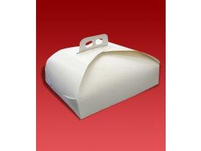 5879 krabice dortova 43cm bila 25 ks bal