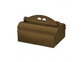 5930 krabice na zakusky 220x170 v 105mm kuze hneda 20 ks bal