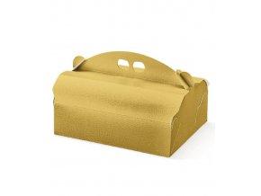 5933 krabice na zakusky 220x170 v 105mm kuze zlata 20 ks bal