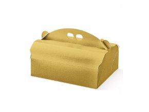 5942 krabice na zakusky 250x200 v 105mm kuze zlata 20 ks bal
