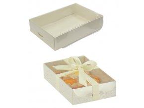 5951 krabice s pruhlednym vikem 150x100 v 35mm kuze bila 50 ks kart