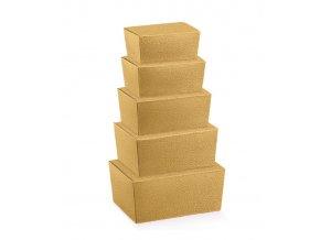 6032 krabicka ballotin 125x80 v 55mm kuze zlata 10 ks bal