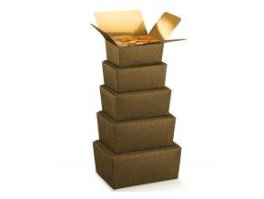 6041 krabicka ballotin 140x90 v 60mm kuze hneda 10 ks bal
